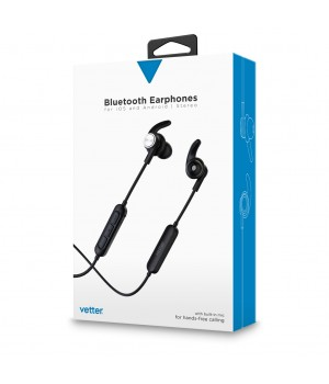 Bluetooth Earphones with digital voice announcement | Handsfree | Black
