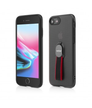 iPhone 8, 7 | Smart Case Hybrid | with Removable Strap | Magnetic Ready | Black