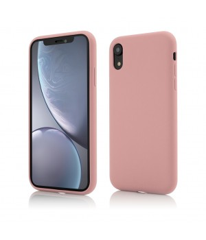 iPhone XR | Clip-On Soft Touch Silk Series | Pink