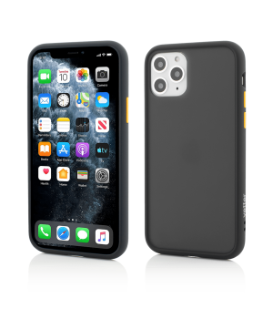 iPhone 11 Pro, Clip-On Hybrid , Shockproof Soft Edge and Rigid Matte Back Cover, Black